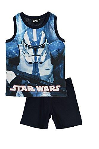 Star Wars Jungen 3 Zweiteiliger Schlafanzug, Blau (Blue 806), 4 Jahre