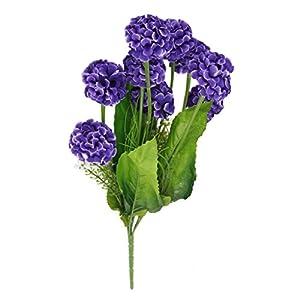 Cikuso 1 x Planta de Flores de Hortensia de simulacion Artificial con 9 Bolas de Flores para Decoracion