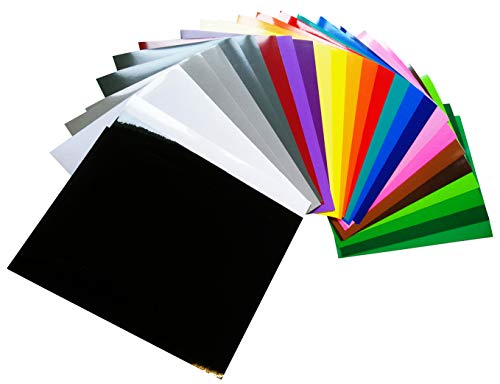 Neoxxim - Set Selbstklebende Plotterfolie glänzend 29 Bögen A4 A4 20 x 30 cm Vinyl-Folie 9,13€/m²