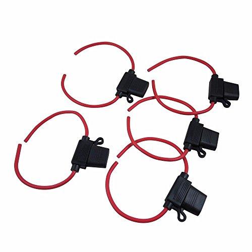 Digiten Reihensicherungshalter, Drahtstärke 12Gauge, wasserabweisend, ATC/ATO, (5Stück)
