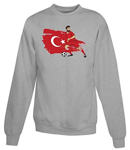 Billion Group | Turkey Crescent-Stars | Football Illustration | Sport Series | Women's Unisex Sweatshirt Gris