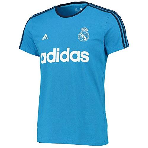 Adidas Real Gr Tee ins-maglietta Herren S Azul / Blanco / Negro - Gestickte Grafik Tee