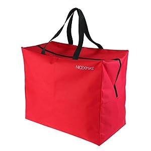 41npP7Tf4 L. SS300 NICEXMAS, borsa/custodia per albero di Natale, Red, 46*25*38cm