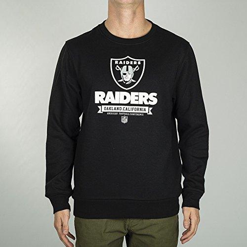 Fanatics NFL Oakland Raiders Graphic Crew Sweatshirt Herren, schwarz, XL