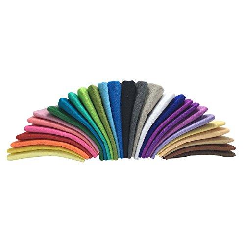Winomo 28pz tessuto non tessuto multicolore bambini materiali artigianali fatti a mano fai da te 30 * 30cm(28 colore)