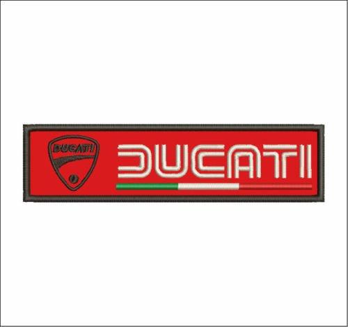 Patch Ducati Corse Motorrad Scudetto Bandera cm 15x 4Aufnäher Stickerei Replica V8F -774 (Ducati Corse Patch)