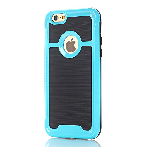 "Coque iPhone 6 Plus / 6s Plus, Alfort 2 en 1 Housse / Etui de Protection en PC Rigide + TPU Protection totale pour Apple iPhone 6 Plus / 6s Plus 5.5"" Smartphone Super Jolie et Brillant ( Vert ) + Styl Bleu"