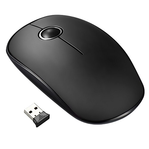 VicTsing Upgraded 2.4G Slim Wireless Mouse with Nano Receiver, Noiseless and Silent Click Mice with 1600 DPI for PC, Laptop, Computer and MacBook, Auto Sleeping, Black Test