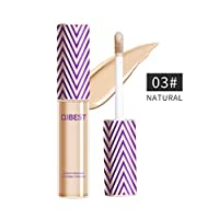 QIBEST Professional Makeup Contour Concealer Eyeshadow Primer, Full Wear Concealer, Full Coverage, NATURAL (3)