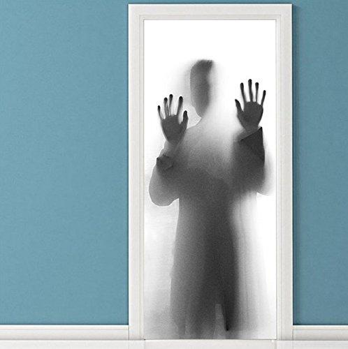 Gosunfly Tür Aufkleber, Dekoration, Okklusion, Renovierung, Hölzerne Tür Selbstklebende Malerei, Wasserdicht Und Milchglas Film Kleiderschrank, Das Haften An Menschlichen Körper 80 CM * 200 CM