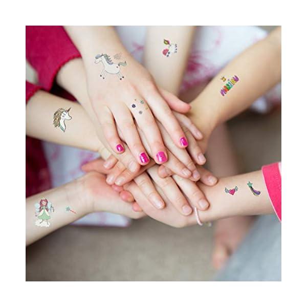 Adesivi per unicorno Tatuaggi temporanei - Regali per bambini unicorno, Tatuaggi per unicorno impermeabili Regali di… 5 spesavip