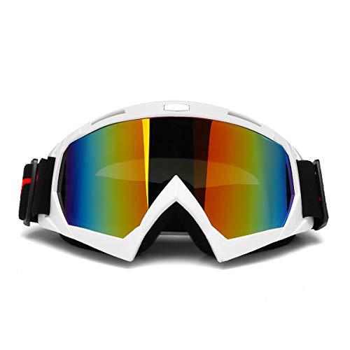 GOZAR Double Lens Anti-Brouillard Ski Snowboard Snow Ski Goggles Moto Uv400 - Blanc