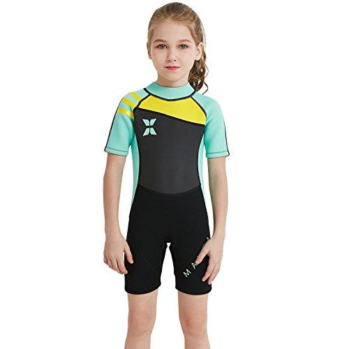Bambine Bambini Protezione Solare Surf Suits Rash Guard Spiaggia Swimsuit Swimwear Modesto Jumpsuit Un Pezzo Full Cover Long/Short Sleeve Abbigliamento sportivo Mare e piscina