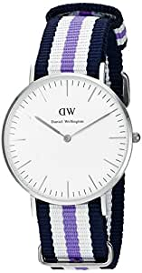 daniel wellington classic damenuhr blau wei lila silber. Black Bedroom Furniture Sets. Home Design Ideas