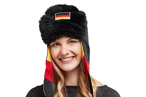 Deutschland Fanartikel zur WM 2018. Traditionelle russische Mütze (Uschanka), speziell für sommerliche...