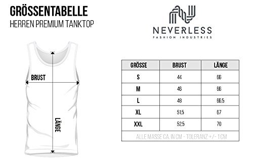 Neverless Herren Tank-Top Original Gladiator Sparta Helm Athletic Vintage Muskelshirt Muscle Shirt Gladiator weiß
