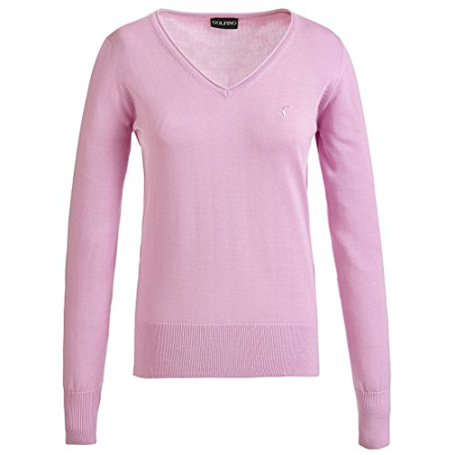 golfino-ladies-sweater-in-soft-pima-cotton-with-v-neck-pink-l