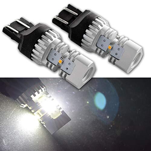 Ruiandsion 2 x 7443 7440 ampoules LED DC 12-24 V ZES Puce 15 W Blanc LED Ampoules de rechange pour l'envers de la lumière sauvegarde Turn Signal Light