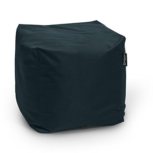 BuBiBag 5-schwarz-45x45x45cm Sitzsack, Stoff, schwarz, 45 x 45 x 45 cm