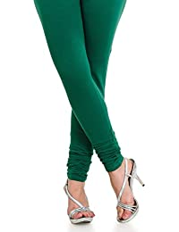 Dream Fashion Cotton Lycra Leggings dark Green For Women's ( Size Free_Dark Green)