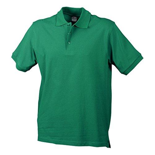JAMES & NICHOLSON Hochwertiges Polohemd mit Armbündchen irish-green