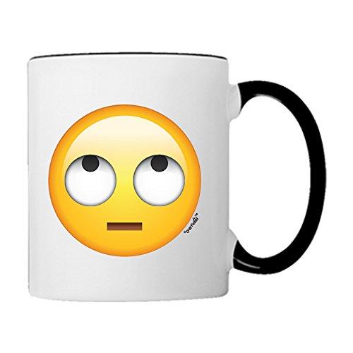 Tasse Innocent Emoji-Kaffee Tasse schwarz