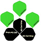 MS-DARTSHOP Dart-Flights Amazon Standard 100 Micron Stark, (Grün)