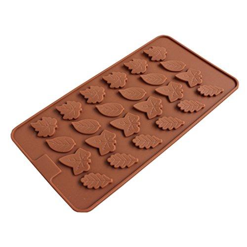 (Dpolrs Blatt-Silikon-Süßigkeit-Form-Untersatz für Schokoladen-Kuchen-Deckel-Gummies Ice Soap Butter-Gelee-Kuchen-Dekoration)