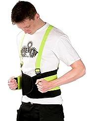 Alta visibilidad rückenstütze- Espalda Aktivbandage- Nuevo soporte cinturón de- tapicería en particular espalda, Músculos abdominales, Vértebra lumbar y rückgrat- también debajo Ropa portable Tamaños S-XL - L