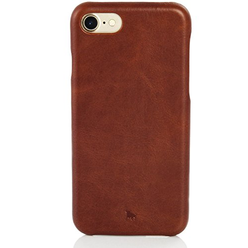 BULLAZO Menor Classic, Hochwertige Handyhülle aus Leder, Kompatibel mit Apple iPhone 7 8, Braun -