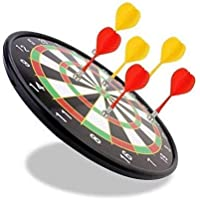 """Supreme Deals® Magnetic Score Dartboard Kit -- Safety Dartboard with 6 Soft Darts,Family Indoor&Outdoor Fun Games, Birthday Gifts for Children/Adults 15 inch (Dart 15"""" Multi)"""