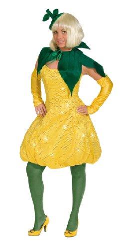 Karneval Damen Kostüm Sexy Lemon Kleid heiße Zitrone Fasching Gr. 42