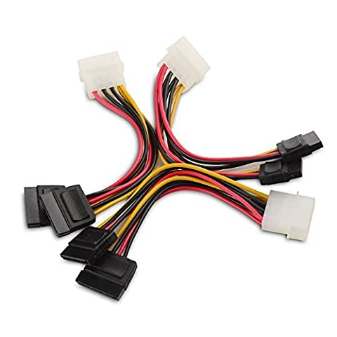 Cable Matters® (3 Pack) 4 Pin Molex to Dual SATA Power Y-Cable Adapter- 15cm