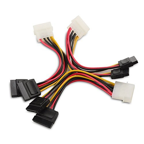 Cable Matters® (3 Pack) 4 Pin Molex à double alimentation SATA Y-Câble Adapteur 6 Inches