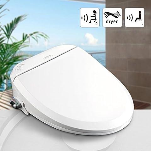 KINSE® Sedile WC Multifunzione Controllo con Telecomando,Sedile Bianco Copri-WC