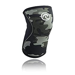 Rehband Kniebandage Neopren 5 mm, Camouflage, L, 7751X-12-4