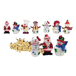 Festive Fun Picks and Gold Motto. Pack of 4 Assorted