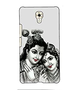 Fuson Designer Back Case Cover for Gionee M6 (Radha Krishna kanhaiya basuri fluet)