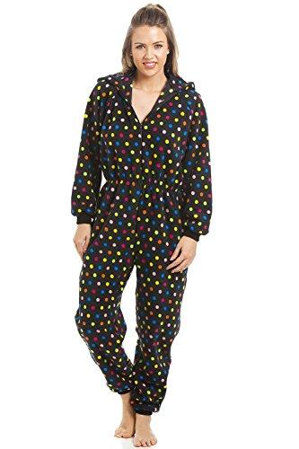 Damen Schlafanzug-Einteiler - Mit bunten Punkten 42/44
