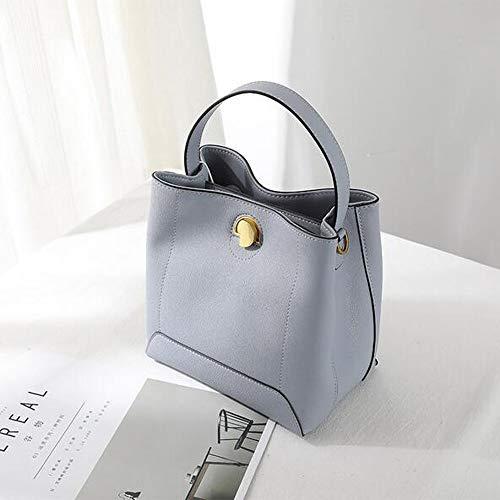 ETH Neue Einzelne Schulter Slung Handtasche Beiläufige Weiße Seide Schal Eimer Tasche Wildleder Handtasche (Farbe : Blue) (Seide Schal Handtasche)