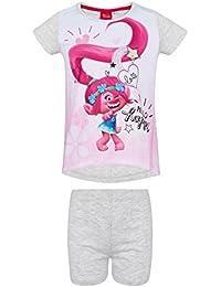 Trolls Chicas Pijama mangas cortas - Blanco