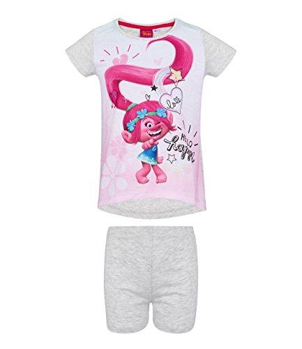 Trolls Pijama para niñas - Manga Corta