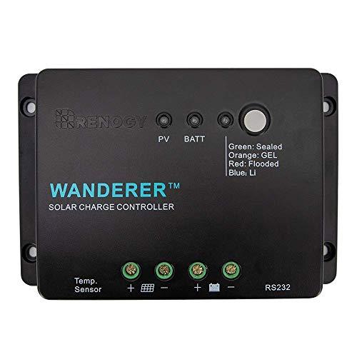 RENOGY Wanderer Li 12V 30A Solarmodul Laderegler PWM mit Lithium-Batterie für Camper/Wohnwagen/Boot