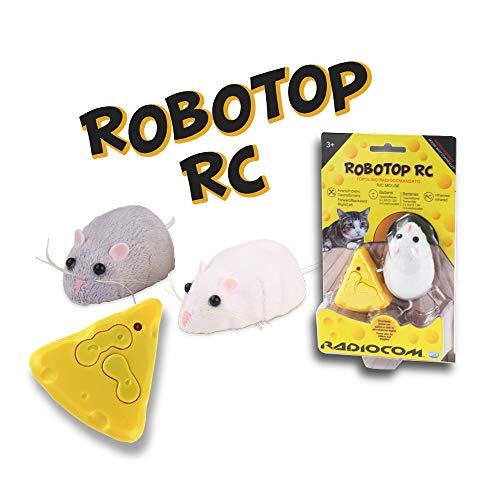 ODS- Radiocom RoboTop Topolino radiocomandato, Colore Bianco, Grigio, 40600