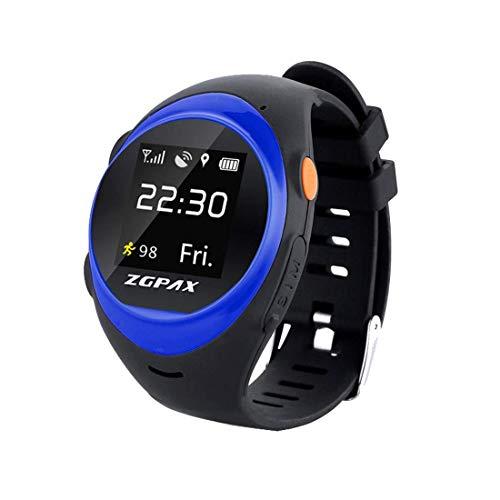LYDB LYDB Uhren 1,22 Zoll IPS-Bildschirm wasserdicht Smartwatch WiFi GPS-Tracking-Uhr, Unterstützung SIM-Karte, 2G-Netzwerk, genaue Positionierung, Sturzalarm, HD-Sprachanruf, Schrittzähler, Alarm Cl