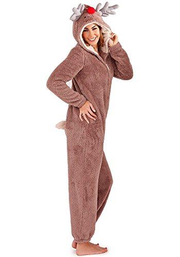 Continental Damen Jumpsuit Overall Tiere Gesichter Öhrchen 3D Kapuze Reindeer 3D 79663/79763 L