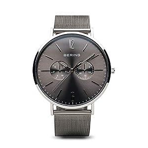 BERING Herren Analog Quarz Uhr mit Edelstahl Armband 14240-308