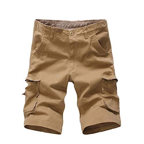 iCKER Herren Cargo Shorts Herren Shorts Kurze Camo Hosen Camouflage Cargo Shorts Herren Classics Vintage Kurz Freizeithose Regular Fit - Camo Kurze