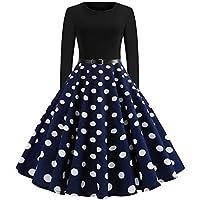 Geili Damen 50er Jahre Audrey Hepburn Vintage Kleid Rockabilly Cocktail Partykleid Frauen Elegante Polka Dot Druck... preisvergleich bei billige-tabletten.eu
