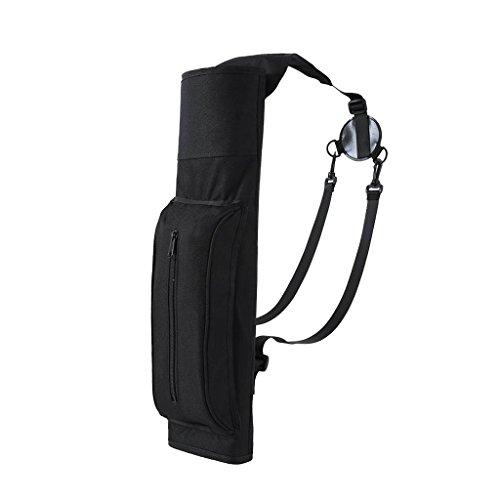 Outdoor Bogenschießen Köcher - Pfeile Halter Pfeilköcher Rückenköcher mit Verstellbarem Schultergurt, Jagd Sport Köcher (Schwarz) - Pfeil Halter